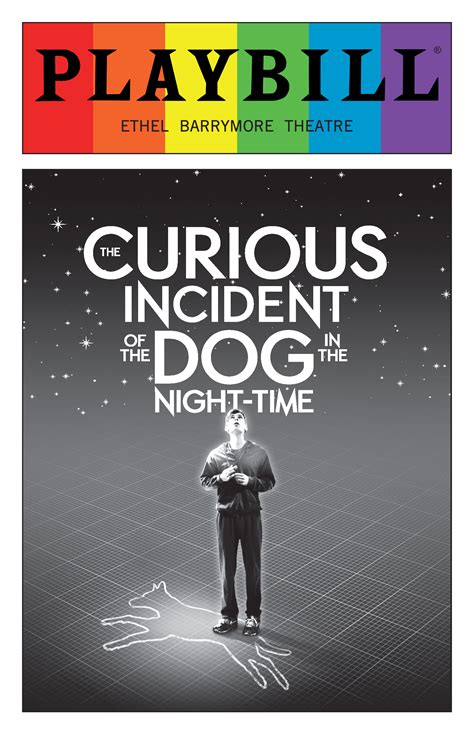 curious incident of the the curious incident of the in the time june 2016 playbill with rainbow