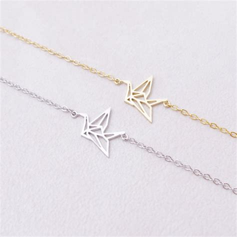 Origami Chain Link - link chain animal origami crane bracelet for