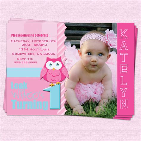 printable 1st birthday invitations girl free printable 1st birthday invitation cards for girls