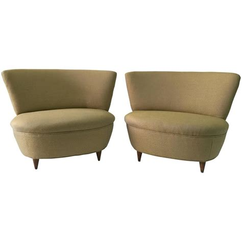 gilbert rohde slipper chairs pair at 1stdibs