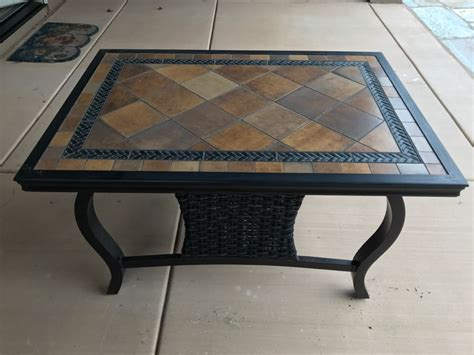 tile top tables patio furniture outdoor aluminum tile top patio furniture coffee table