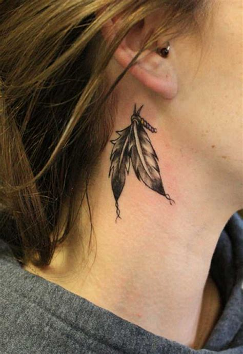 gang tattoo behind ear 15 feather behind ear tattoo