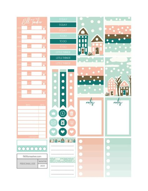 free printable planner pages classic size winter wonderland free printable monthly planner kit