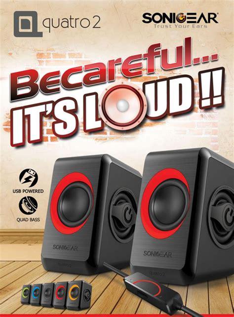 Promo Speaker Multimedia Subwoofer Sonicgear Quatro V Usb Memo sonic gear quatro2 usb speakers asianic distributors inc philippines