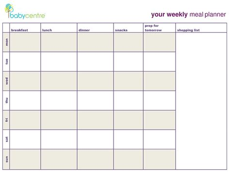 monthly snack calendar template search results for meal planning template with snacks