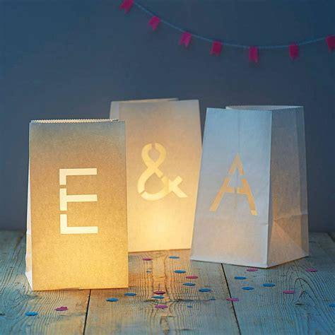 How To Make A Paper Bag Lantern - paper bag letter lantern