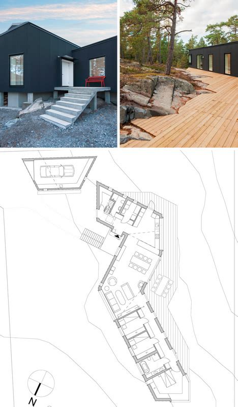 organic floor plan organic outgrowth home conforms to natural site stone