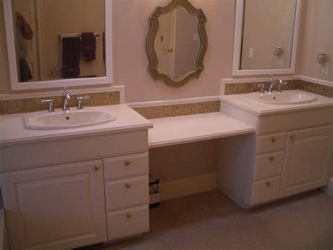 Bathroom Vanity Tile Ideas Vanity Bathroom With Sink Also Multi Drawers And Brown Bathroom Backsplash Tile Feat