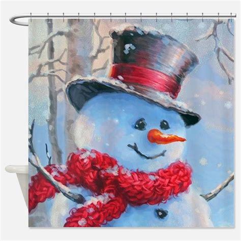 snowman shower curtains snowman winter scene shower curtains snowman winter