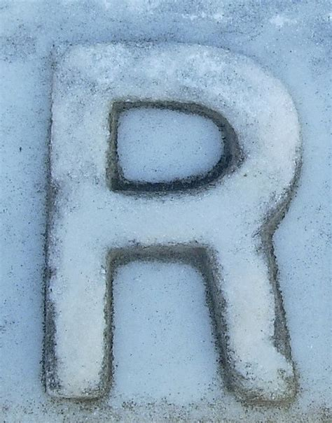 Snow Covered Letters snow covered r letters alphabet diy alphabet numbers