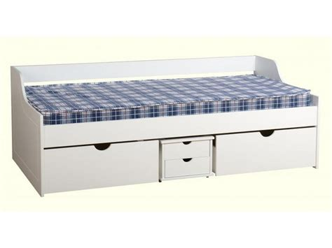 Daybed With Storage Underneath Seconique Dante Single Daybed With Drawers Bed Storage 3ft 90cm White Ebay
