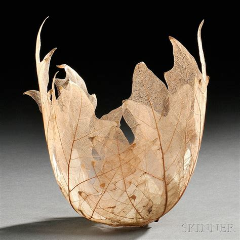 home sculptures skeletal leaf bowl sculptures by kay sekimachi colossal