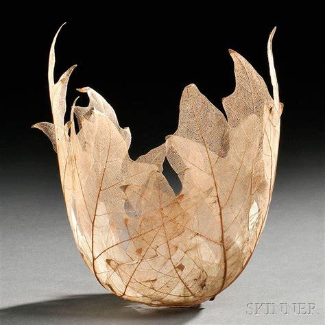 home sculptures skeletal leaf bowl sculptures by kay sekimachi colossal
