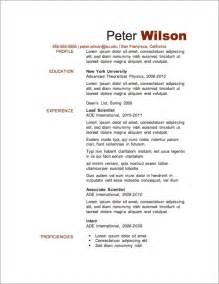 My Resume Template by My Resume Templates