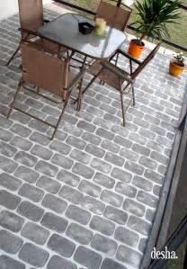 desha faux brick patio
