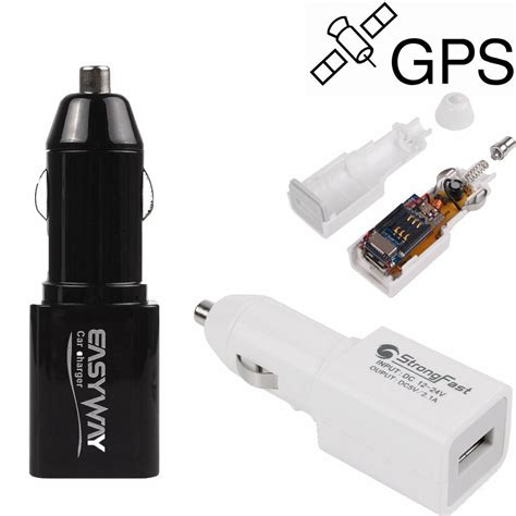 real time gps tracking device mini locator car charger