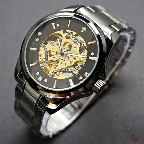 Jam Tangan Cowokpria Rolex Autometic jual beli jam tangan rolex r098 baru jual beli jam