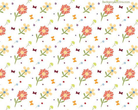 pattern cute background cute love orange and yellow floral pattern a white