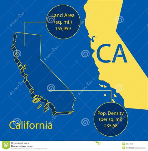 california map graphic california 3d vector map info graphic stock photo image