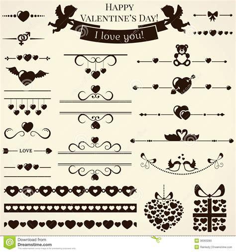 love wedding design elements vector collection of love design elements vector illustr stock