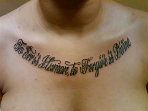 chest tattoos quotes quote on chest tattooshunt