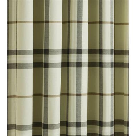 natural check curtains belfield furnishings lomond natural check eyelet readymade
