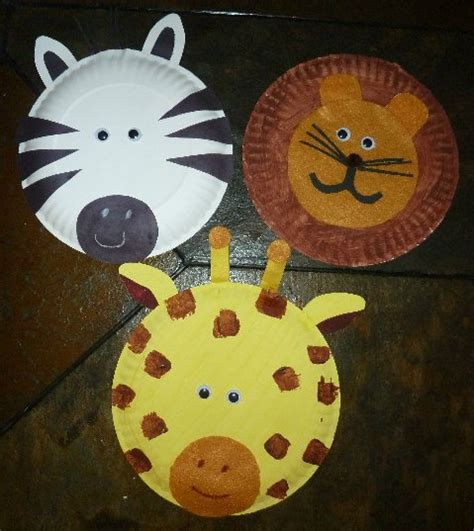 Paper Animal Crafts - paper plate crafts on paper plates preschool