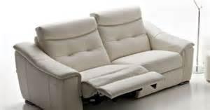 contemporary leather recliner sofa monza rosini