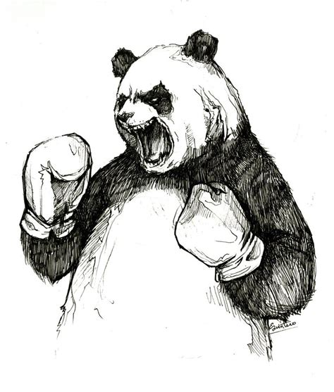 panda tattoo sketches the angry boxing panda by ylimes on deviantart