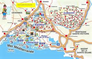 carte touristique de la provence