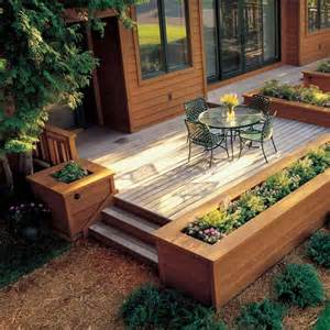 Porch Rail Planters by Raised Beds For Easy Low Maintenance Backyard Gardens