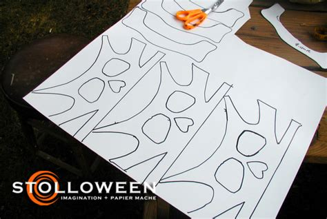 cardboard skull template how to ancient skulls stolloween