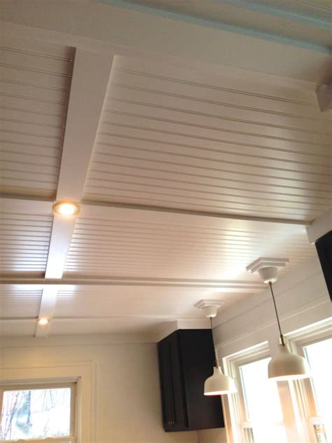 beadboard to cover popcorn ceiling beadboard ceilings diy home projects