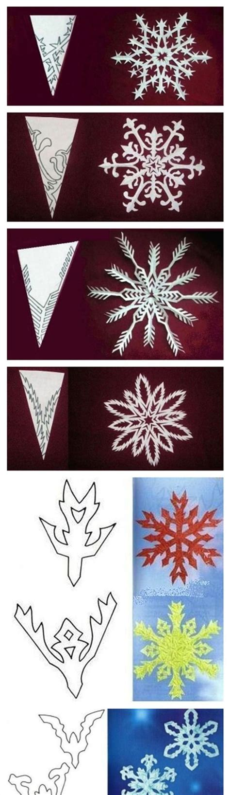 For Paper Snowflakes - paper snowflake patterns ideas