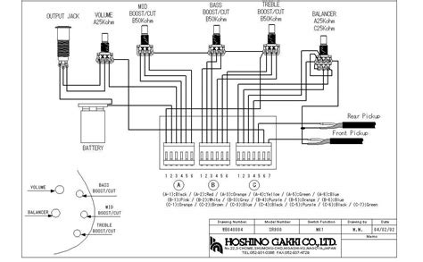 cort bass guitar wiring diagram gallery wiring diagram