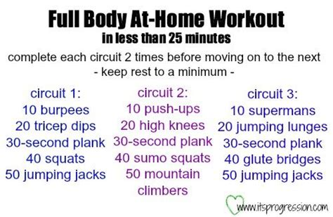 at home bodyweight workout in less than 25