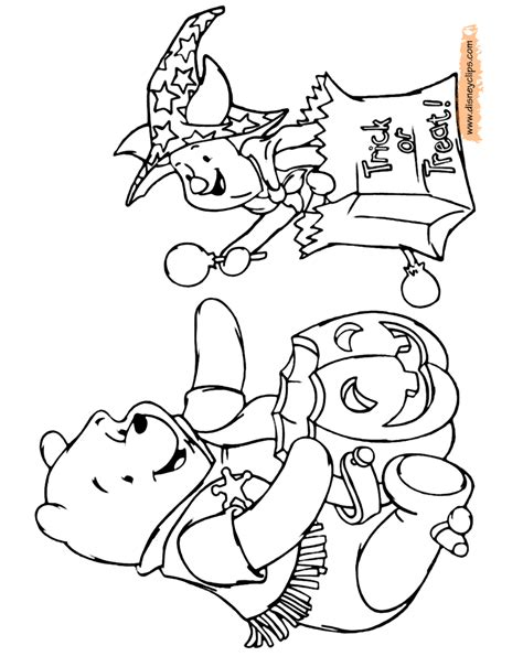 halloween coloring pages winnie the pooh disney halloween coloring pages 2 disneyclips com