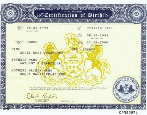 Vital Records Philadelphia Pa Birth Certificate