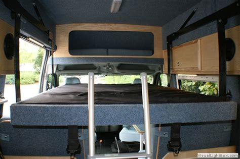 drop down bed young conversions bespoke van conversions motorhomes