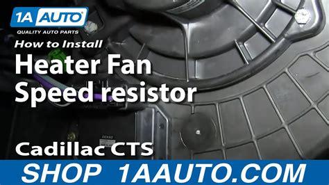 install replace heater ac blower fan speed resistor