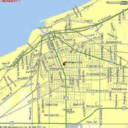 Map Of Indiana And Michigan by Michigan City Indiana