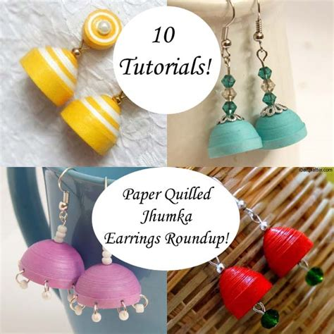 How To Make Jhumka Earrings With Paper - 10 ways to make paper quilled jhumka earrings a roundup