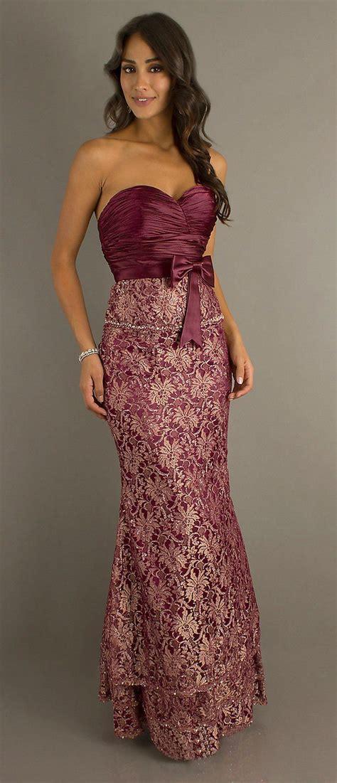 Set Longdress Bolero burgundy metallic lace formal dress tight fit