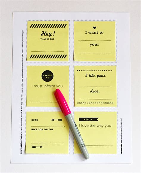 printable sticky notes template print your own post it notes how about orange