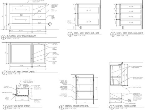 kitchen cabinets details standard kitchen cabinets cabinet section detail drawings