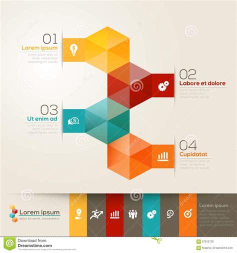 modern layout isometric shape design layout stock vector illustration