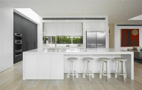 kitchen small white trends with beautiful modern gloss cabinets images tv unit entertainment cocinas de dise 241 o blanco marcando la diferencia