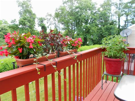 Hanging Rail Planters by Planters Astonishing Deck Planter Planters For Front