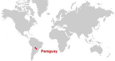 paraguay world map world map of paraguay