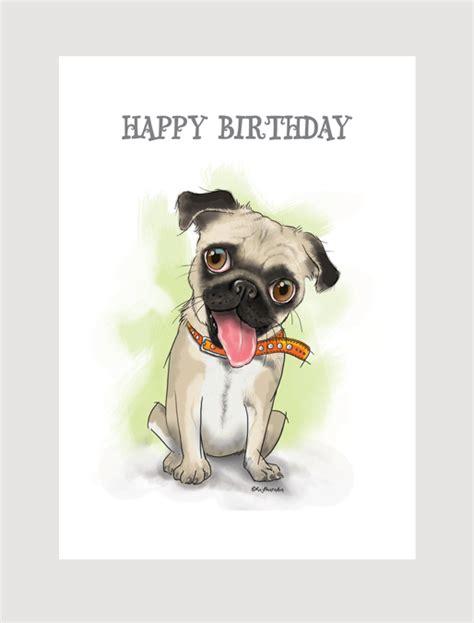 pug birthday ecards random pugs saying happy birthday quotes